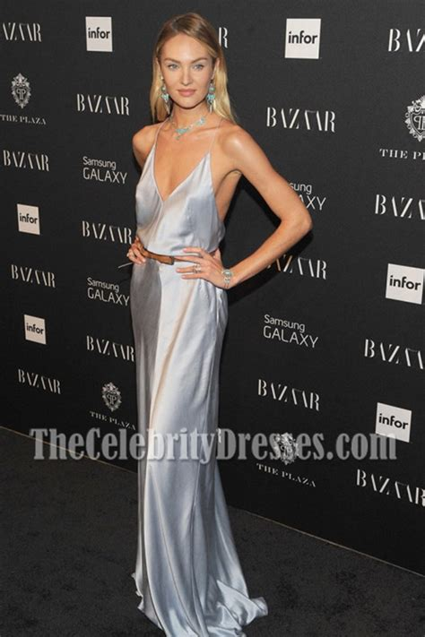 candice swanepoel spaghetti straps evening prom gown