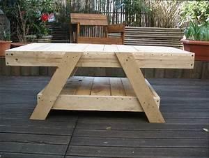 Plan De Table Palette : table en palettes de bois ~ Dode.kayakingforconservation.com Idées de Décoration