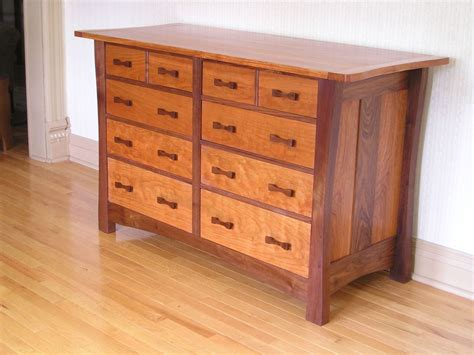 Custom Made Ten Drawer Arts & Crafts Style Dresser By One