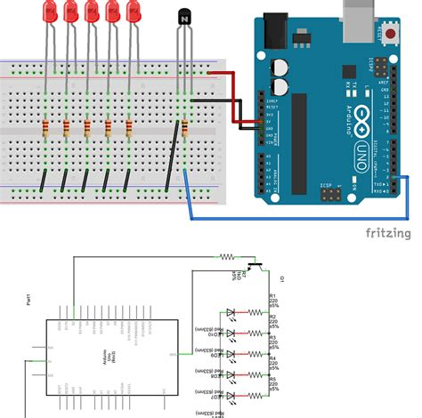 How Connect Multiple Leds With One Arduino Pin Series
