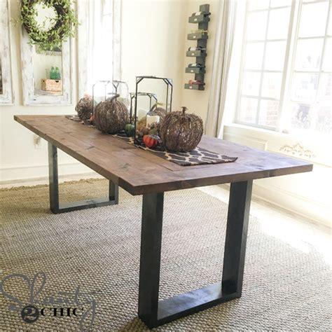 diy rustic modern dining table shanty  chic