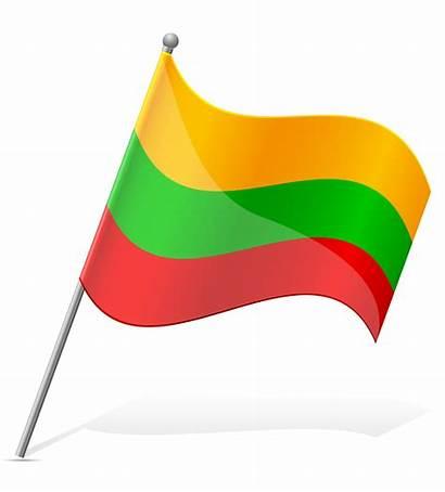Flag Lithuania Vector Illustration Lucifer Cartoon Switzerland