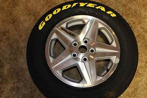 misc build spray painted the tire letters using flex seal With goodyear yellow letter tires