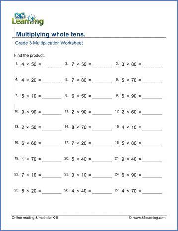 printable  grade math worksheets  learning