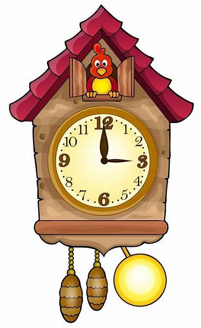 Clock Cuckoo Clipart Clip Clocks Cliparts Clipartpng