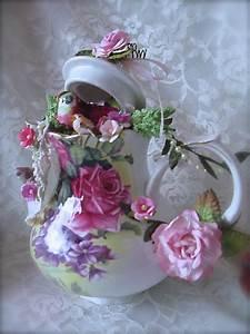 Shabby Chic Geschirr : martica designs shabby chic tea for two altered pink teapot and teacups craft ideas ~ Markanthonyermac.com Haus und Dekorationen