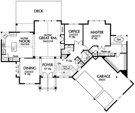 gourmet kitchen floor plans open plan with gourmet kitchen 69496am 1st floor 3877