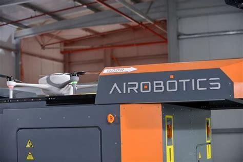 airobotics futuristic automated industrial drone can keep