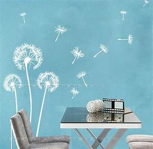 pin by c c on craft ideas pinterest With awesome white dandelion wall decal