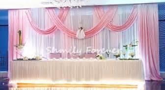 stunning new design white pink wedding backdrop curtain