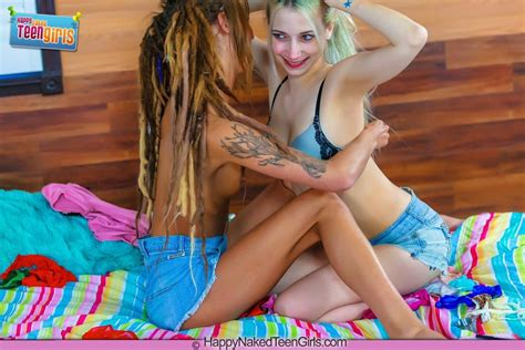 Teen Lesbian Ranie Mae Licks Her Friends Coochie Of