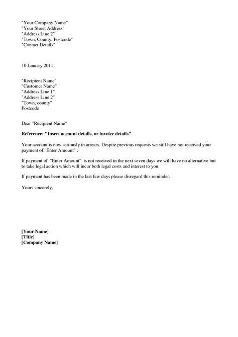 collection letter template collection letter template crna cover letter 11219
