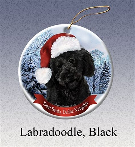 labradoodle holiday ornaments raining cats and dogs labradoodle dear santa