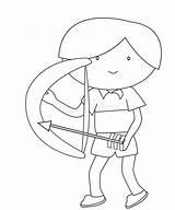 Arrow Bow Coloring Een Pfeil Bogen Junge Farbtonseite Einer Pijl Jongen Kleurende Boog Pagina Arrows Colors Boy Random Drawing Bows sketch template