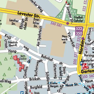 karte von gehrden stadtplandienst deutschland