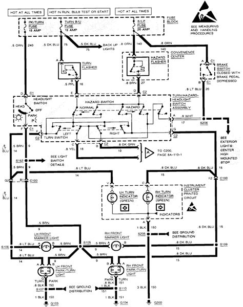 93 Wiring Diagram by S 93 Chevy Cavalier Continues To The Fuse To