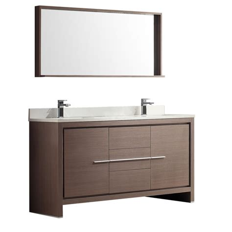 60 inch double sink vanity top 60 inch double sink bath vanity in gray oak with stone top
