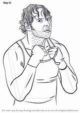 Wwe Dean Ambrose Drawing Draw Step Wrestlers Tutorials sketch template