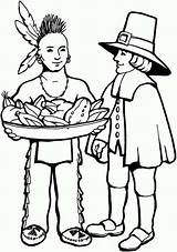 Coloring Native American Pages Pilgrims Thanksgiving Pilgrim Indian Indians Clipart Skin Cartoon Americans Cliparts Praying Clip Printable Drawing Library Boy sketch template