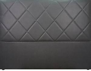 Tete De Lit Capitonnée Gris : t te de lit capitonn e saffiano aspect cuir gris mobilier ~ Teatrodelosmanantiales.com Idées de Décoration