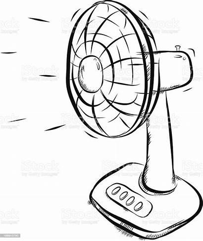 Fan Electric Clipart Vector Illustration Cartoon Clip