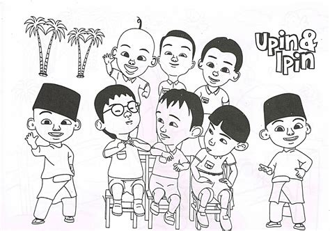 upin ipin complete  friends coloring pages