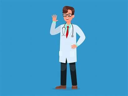 Doctor Animated Clipart Gify Lekarz Medical Career