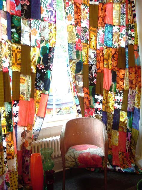 vintage vixen patchwork curtains chrissie freeth
