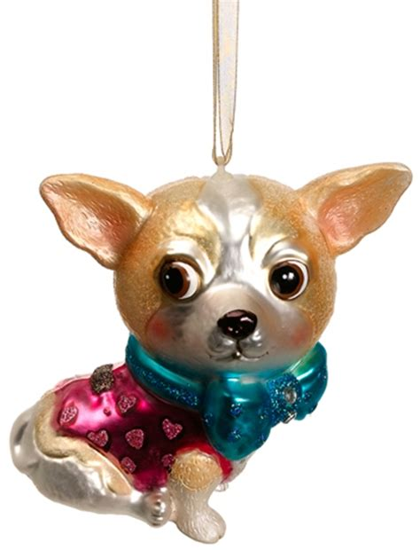 blown glass dog christmas ornaments at designer silk trees
