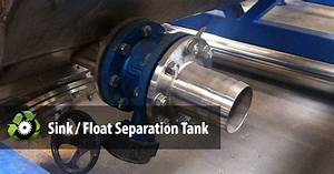 Line Separator Sink Float Separation Tank Pet Bottle Washing Recycling Line