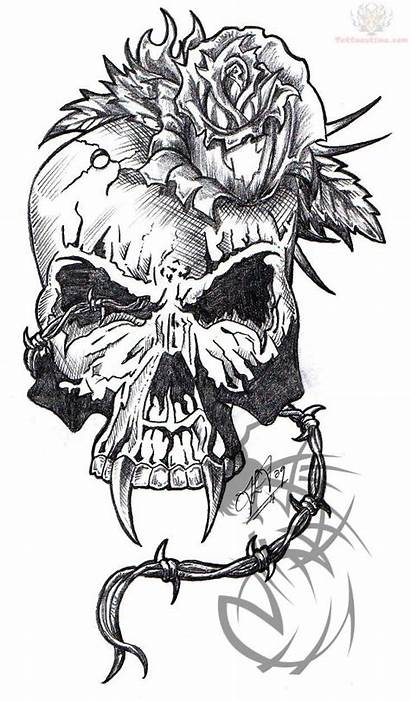 Tattoo Skeleton Skull Rose Roses Skulls Tattoos
