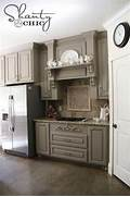 Painted Kitchen Cabinets Before And After Grey by Choosing My Battles And A Paint Color Shanty 2 Chic