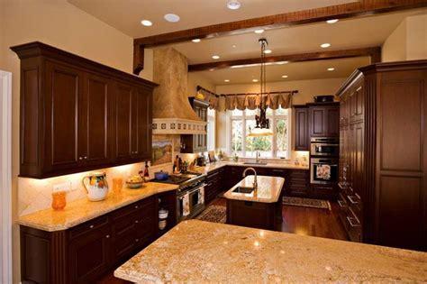 Bay Area traditional kitchen design with mahogany custom