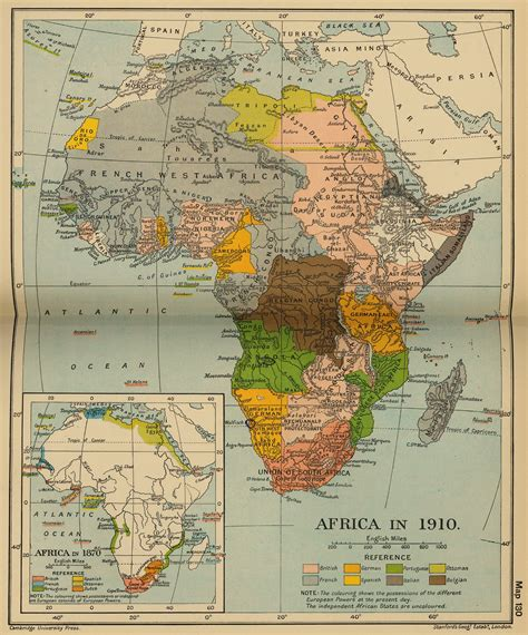 1910 Africa Map Colonization