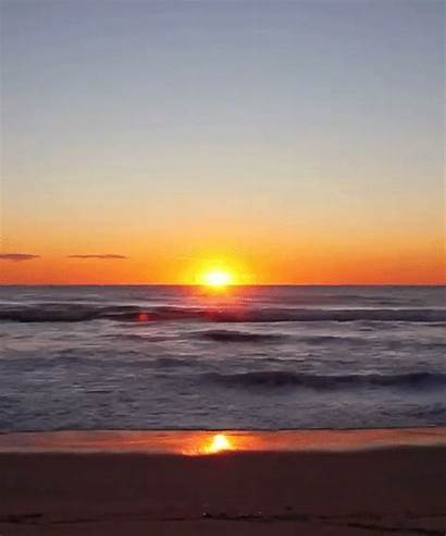 Sun Gifs Giphy Down Sunset Ocean Goes