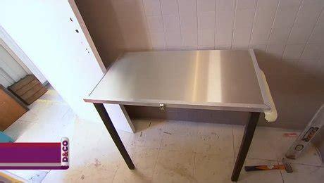 créer une table murale rabattable et pliante