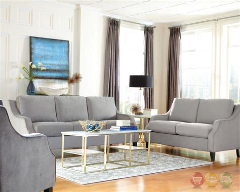 Isabelle Soft Grey Upholstered Feather Down Sofa
