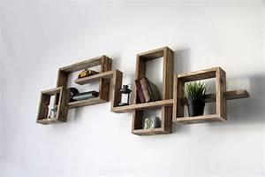 Etagere Bois Design : etagere murale radja yvar design mobilier ecodesign ~ Teatrodelosmanantiales.com Idées de Décoration