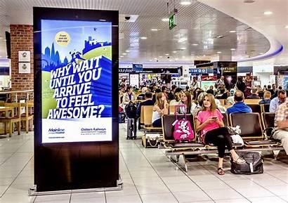 Advertising Digital Airport Ooh Signage Based West