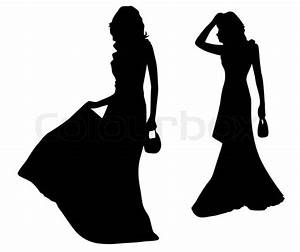 Fashion silhouettes of girls | Stock Vector | Colourbox