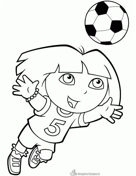 Voetbal Kleurplaat by Kleurplaten Voetbal Kleurplaten Kleurplaat Nl