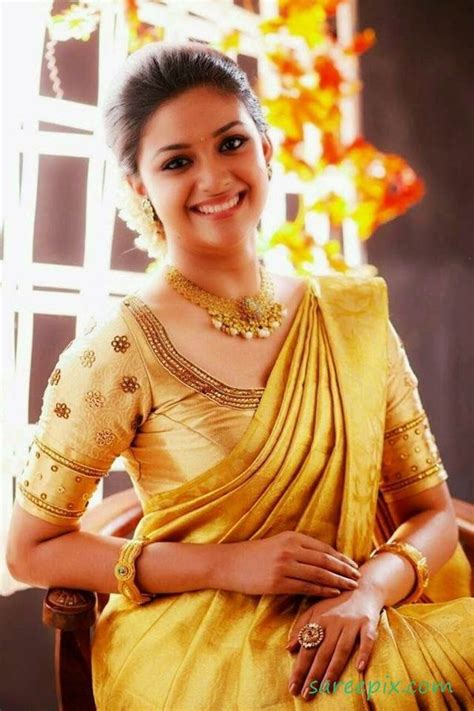 actress keerthi suresh in saree bridal silk saree actress keerthi suresh like