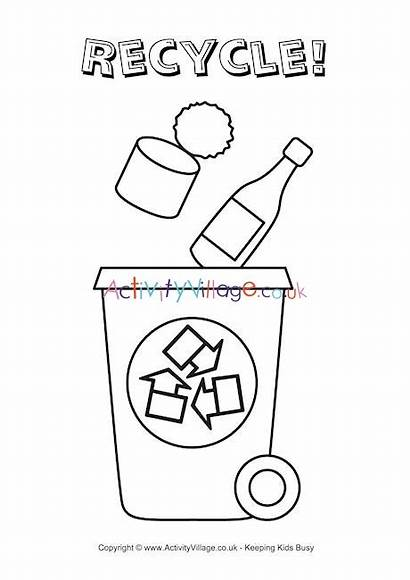 Recycle Bin Colouring Pages Recycling Coloring Worksheets