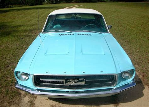 frost turquoise blue  ford mustang hardtop