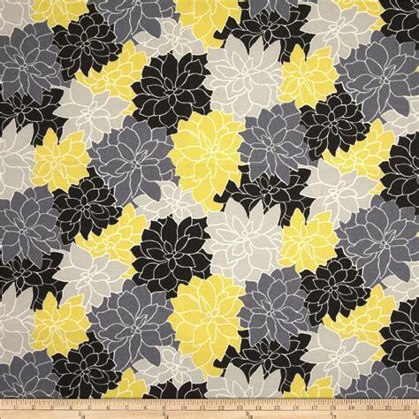 sun fabric waverly sun n shade rosette lemon discount designer fabric fabric com