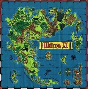 1 4 Scale Graph Paper Ultima Vi Map Of Britannia The Codex Of Ultima Wisdom A