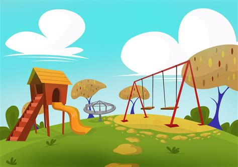 Cartoon Playground Background