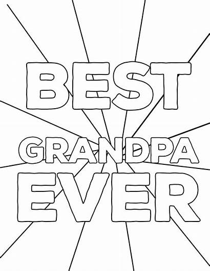 Grandpa Coloring Fathers Pages Ever Happy Printables
