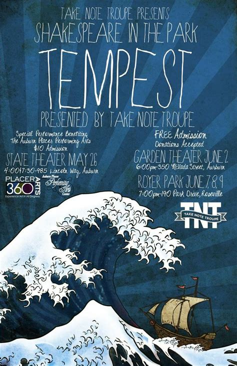 the tempest modern 28 images customizable theatre posters by subplot studio william