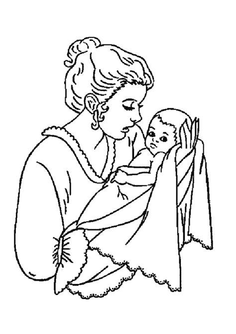 dessiner sa cuisine en ligne gratuit coloriage naissance le bébé et sa maman